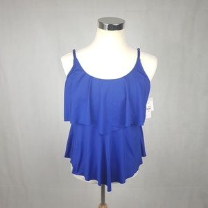 Swim Tank Top Liz claiborne- Blue